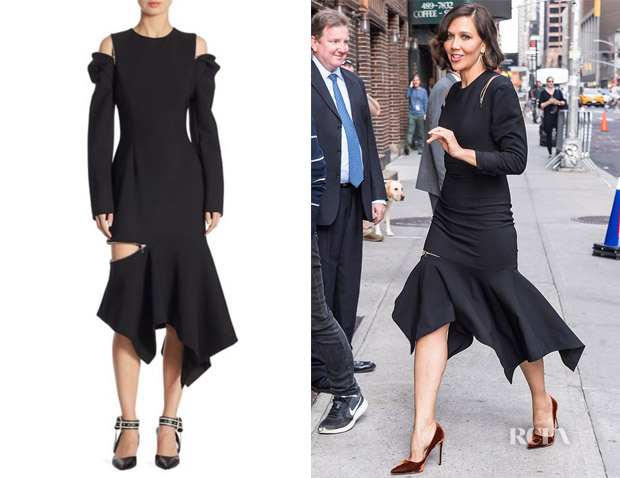 Maggie Gyllenhaal's Monse Black Zip Dress