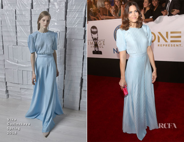 Mandy Moore In Vika Gazinskaya - 2018 NAACP Image Awards