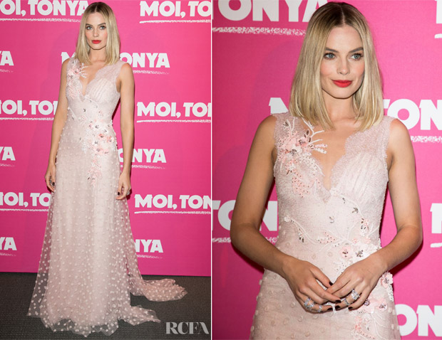 Margot Robbie In Rodarte - 'I, Tonya' Paris Premiere
