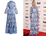 Margot Robbie's Erdem Cassandra Floral-Embroidered Gown