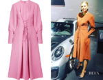 Maria Sharapova's Tibi Lace-Up Crepe Midi Dress