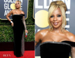 Mary J Blige In Alberta Ferretti - 2018 Golden Globe Awards