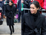 Meghan Markle In Stella McCartney - Cardiff Castle Visit