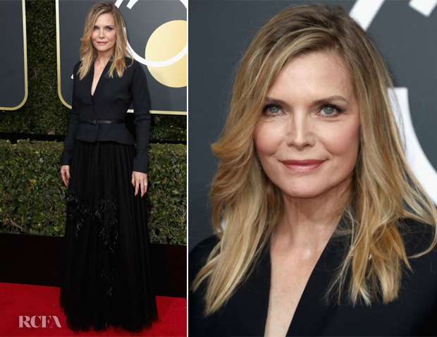 Michelle Pfeiffer In Christian Dior Couture 2018 Golden