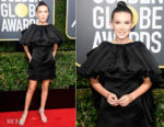 Millie Bobby Brown In Calvin Klein by Appointment  - 2018 Golden Globe Awards