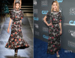 Natalia Dyer In Erdem - 2018 Critics' Choice Awards