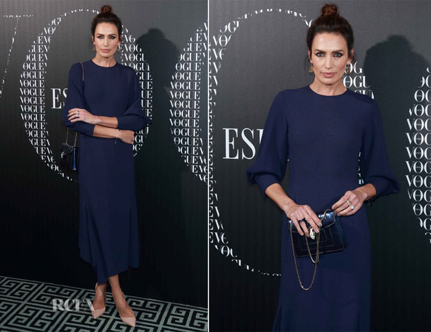 Nieves Alvarez In Victoria Beckham - Vogue Spain's Dinner for Victoria Beckham
