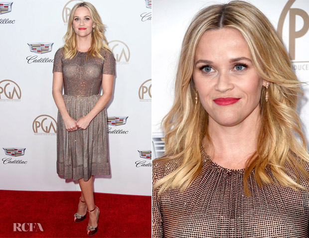 Reese Witherspoon In Dolce & Gabbana  - 2018 Producers Guild Awards