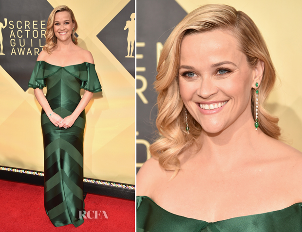 Reese Witherspoon In Zac Posen - 2018 SAG Awards