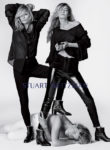 Gigi Hadid and Kate Moss star in Stuart Weitzman's Spring 2018 advertising campaign