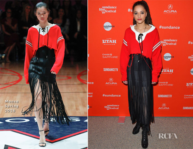 Sasha Lane In Monse - The Miseducation Of Cameron Post' And 'I Like Girls' Sundance Film Festival Premieres