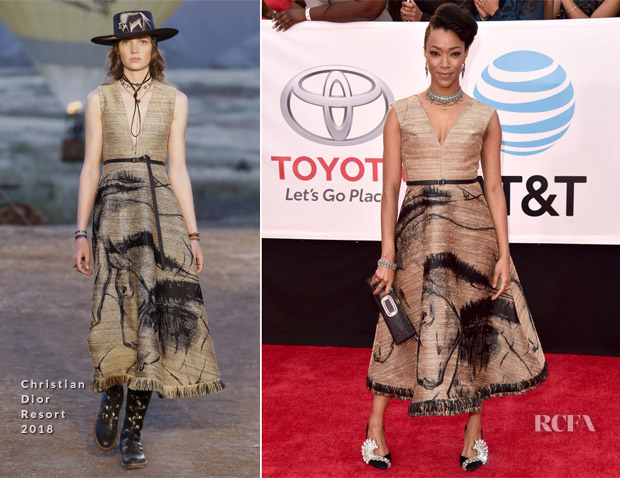 Sonequa Martin Green In Christian Dior - 2018 NAACP Image Awards