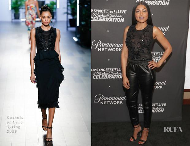 Taraji P. Henson In Cushnie et Ochs - Lip Sync Battle LIVE: A Michael Jackson Celebration