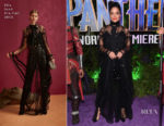 Tessa Thompson In Elie Saab - 'Black Panther' World Premiere