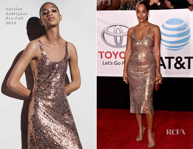 Tracee Ellis Ross In Narciso Rodriguez - 2018 NAACP Image Awards