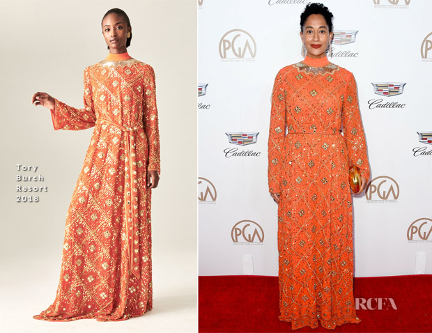 Tracee Ellis Ross In Tory Burch - 2018 Producers Guild Awards
