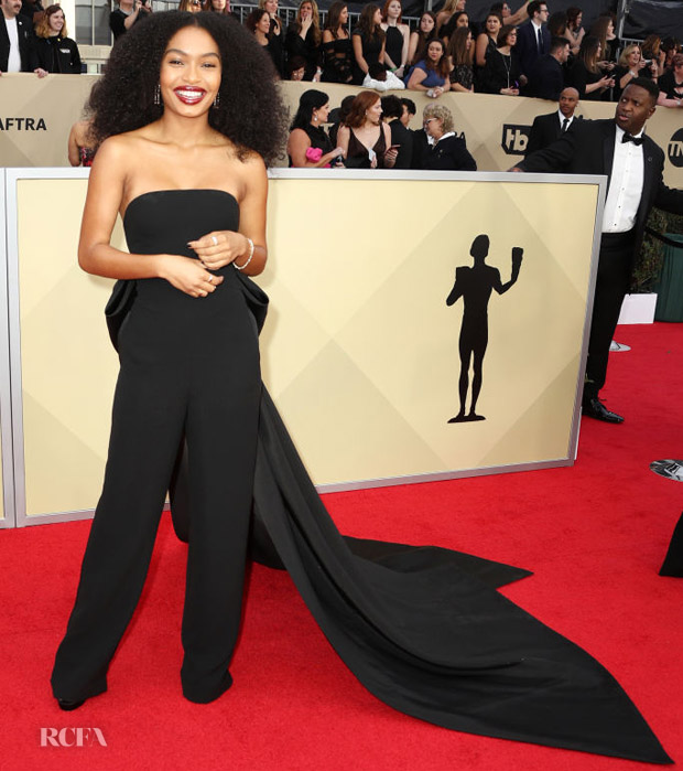 Yara Shahidi In Ralph Lauren Collection - 2018 SAG Awards