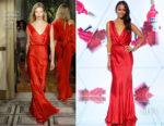 Zoe Saldana In Alberta Ferretti Couture - 'Campari Red Diaries' Milan Premiere