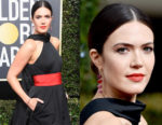 Mandy Moore's Poppy Coral Golden Globes Beauty Look