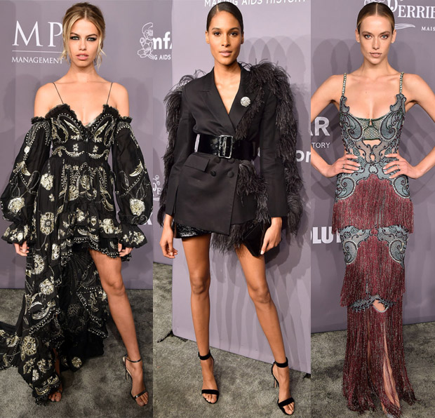 fd05a9f68f Hailey Clauson  Poppy Delevingne s Dundas gown missed the mark and I m  afraid the model s Dundas Resort 2018 dress didn t quite work for me either  given the ...