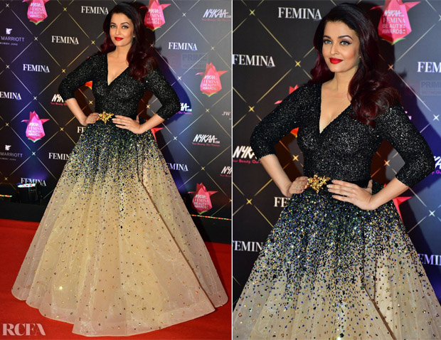 Aishwarya Rai Bachchan In LaBourjoisie - Femina Beauty Awards 2018