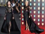 Andrea Riseborough In Elie Saab Couture - 2018 BAFTAs