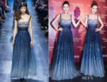 Angelababy In Christian Dior - Madame Tussauds Wax Figure Unveiling