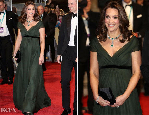 Catherine, Duchess of Cambridge In Jenny Packham - 2018 BAFTAs