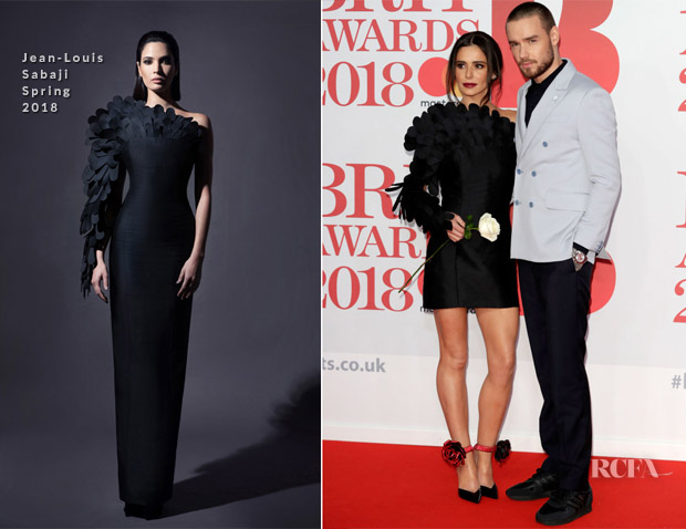 Cheryl In Jean-Louis Sabaji - The BRIT Awards 2018
