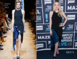 Dakota Fanning In Mugler - Watch What Happens Live