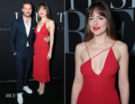 Dakota Johnson In Cushnie et Ochs - 'Fifty Shades Freed' LA Premiere