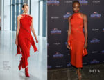 Danai Gurira In Dion Lee & Sies Marjan - 'Black Panther' New York Promo Tour