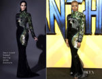 Danai Gurira In Jean-Louis Sabaji -  'Black Panther' London Premiere