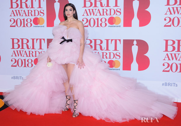 Dua Lipa In Giambattista Valli Couture - 2018 BRIT Awards