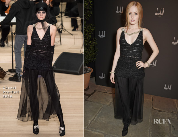 Ellie Bamber In Chanel - Dunhill & GQ Pre-BAFTA Filmmakers Dinner And Party