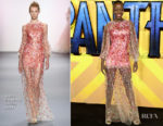 Florence Kasumba In Jenny Packham - 'Black Panther' London Premiere