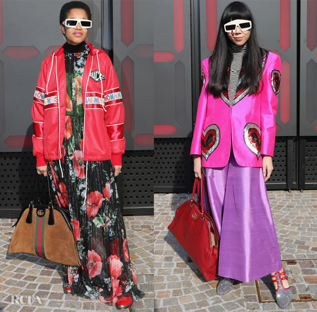 b8949ef8f5b7 Tamu McPherson  The fashion influencer offered up a creative look that  artfully combined the romance of the floral dress with an urban-inspired  track jacket ...