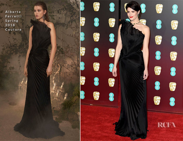 0a1a8331e2 Gemma Arterton In Alberta Ferretti Couture - 2018 BAFTAs - Red ...