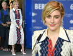 Greta Gerwig In Gucci - 'Isle of Dogs' Berlinale International Film Festival Photocall