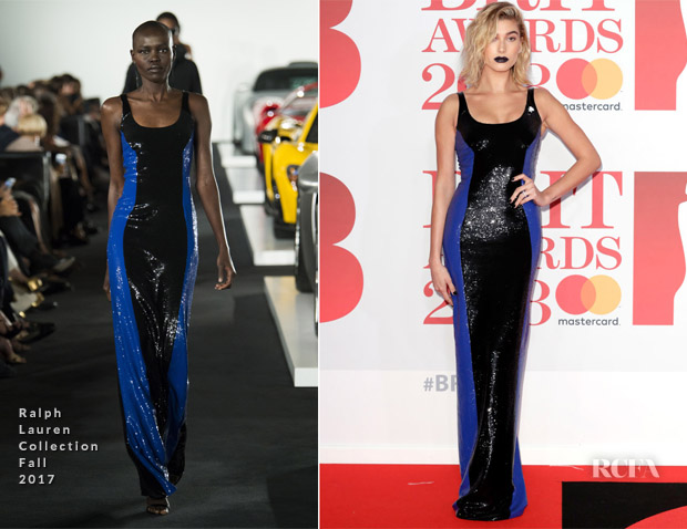 Hailey Baldwin In Ralph Lauren Collection - The BRIT Awards 2018