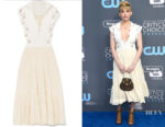 Haley Bennett's Chloe Embellished Midi Dress