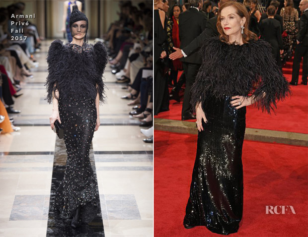 Isabelle Huppert In Armani Privé Couture - 2018 BAFTAs
