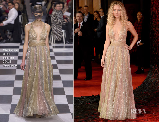 Jennifer Lawrence In Christian Dior Couture - 'Red Sparrow' London Premiere
