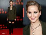 Jennifer Lawrence In Ralph Lauren & Alexander McQueen - 'Red Sparrow' Washington, DC Screening