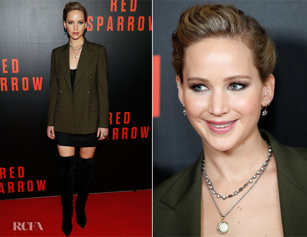 Jennifer Lawrence In Ralph Lauren & Alexander McQueen - 'Red Sparrow' Washington, DC Screening