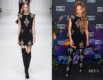 Jennifer Lopez In Versace - 2018 DIRECTV NOW Super Saturday Night Concert