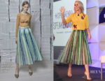 Julianne Hough In Vika Gazinskaya - #BlogHer18 Health Conference