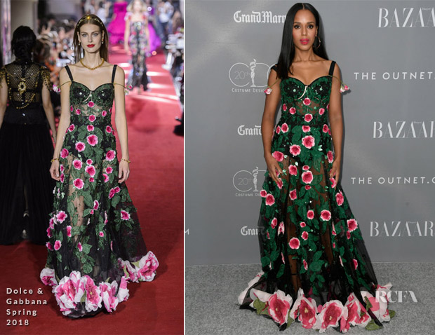 Kerry Washington In Dolce & Gabbana - 2018 Costume Designers Guild Awards
