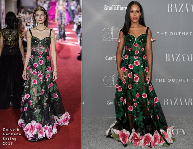 5f57073f607 Kerry Washington In Dolce   Gabbana – 2018 Costume Designers Guild Awards