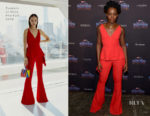 Lupita Nyong'o In Cushnie et Ochs, Gucci & Dolce & Gabbana - 'Black Panther' New York Promo Tour